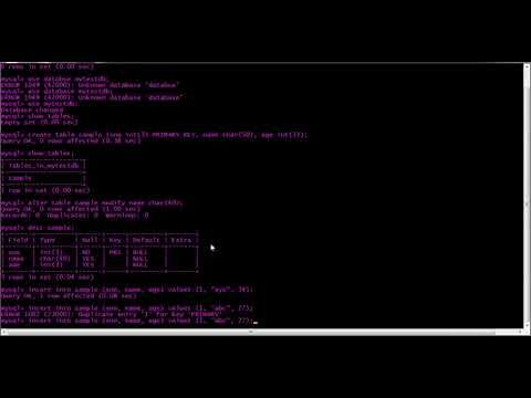 Working On Linux And Ubuntu Machines Youtube Basic Mysql Being Used