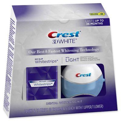 Crest 3D White 10-Count No Slip Whitestrips With Light