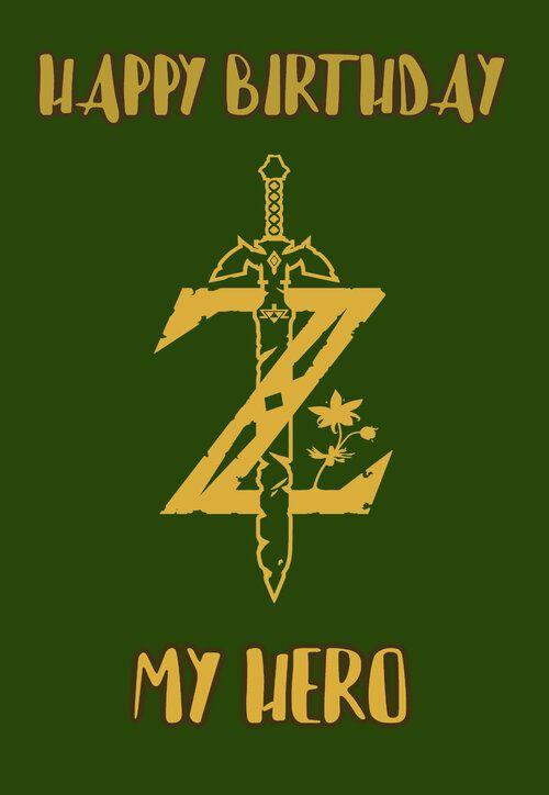 Zelda Birthday Card Jpg Zelda Birthday Birthday Card Printable Birthday Cards
