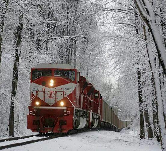 Tren en la nieve