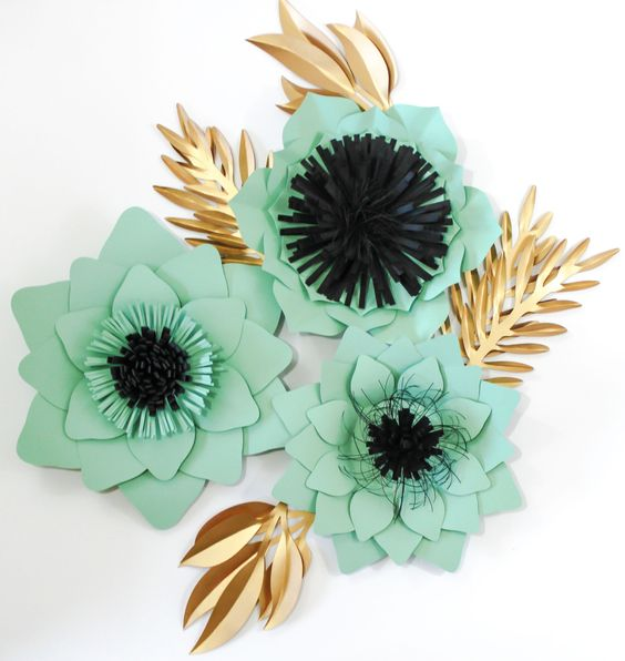 Paper Flower Backdrop Wedding Centerpiece Giant by APaperEvent