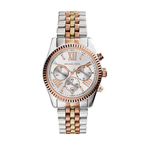 Montre Michael Kors En Cuir In 2020 Watches Women Michael Kors Rose Gold Watches Michael Kors Watch