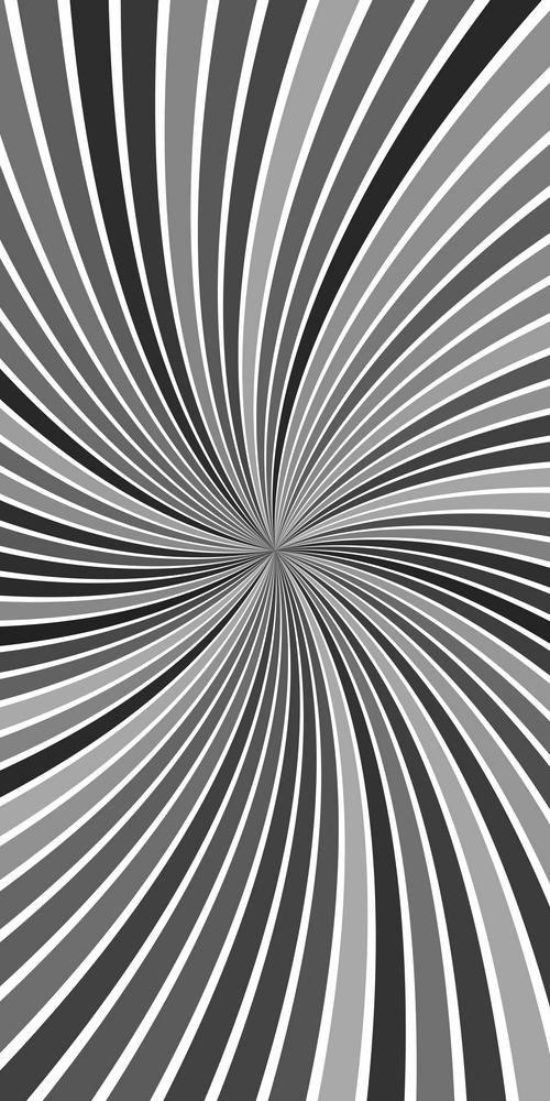 Grey Hypnotic Abstract Vortex Background Vector Graphic Design