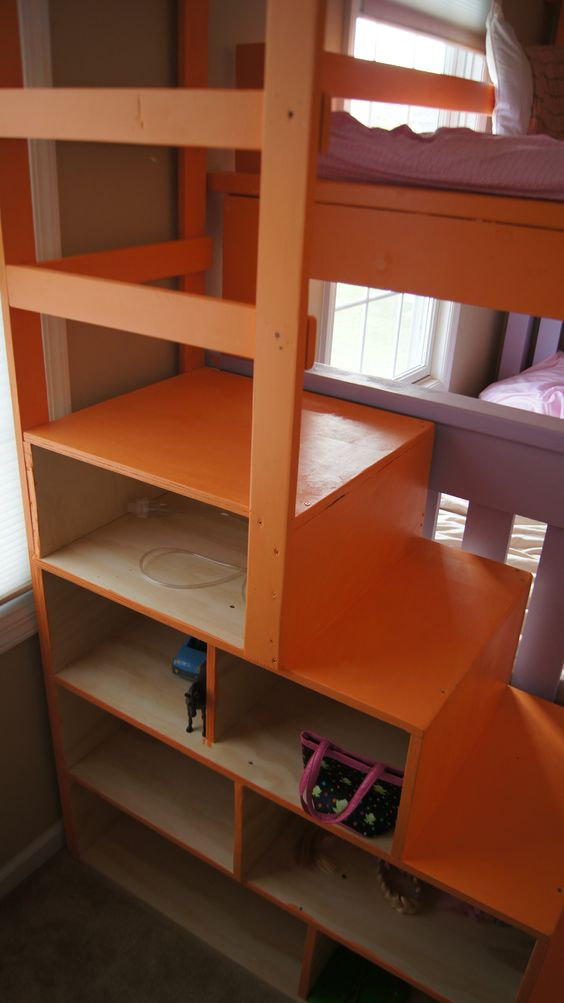 bunk bed triple bunk beds and stairs on pinterest. Black Bedroom Furniture Sets. Home Design Ideas