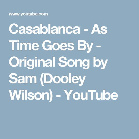 Dooley Wilson – As Time Goes By Lyrics | Genius Lyrics