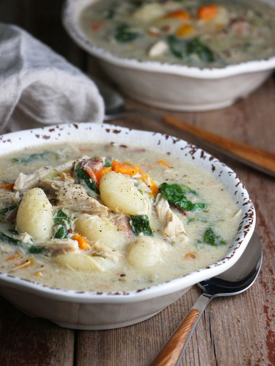 slow-cooker turkey gnocchi chowder