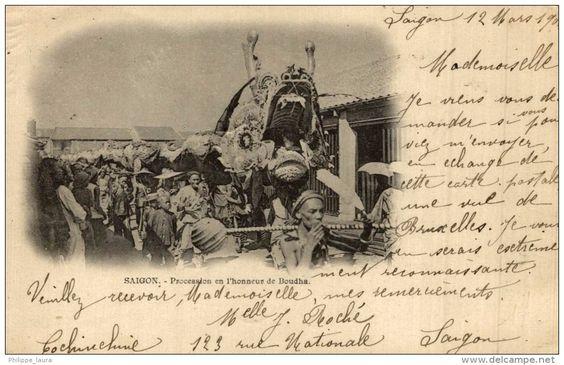 SAIGON - PROCESSION EN L'HONNEUR DE BOUDHA
