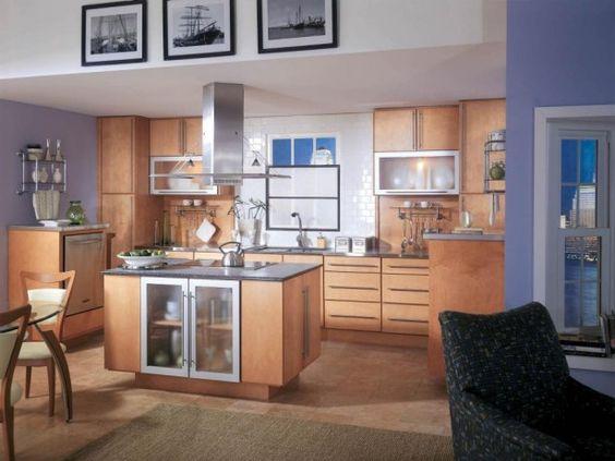 Wonderful Modern Kitchen Design: Wonderful Modern Kitchen Design With Wooden Countertop And Glass Storage Design ~ watsonrock.com Kitchen Inspiration
