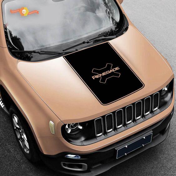 2015 2017 Jeep Renegade Trailhawk Vinyl Hood Decal Sticker Graphic