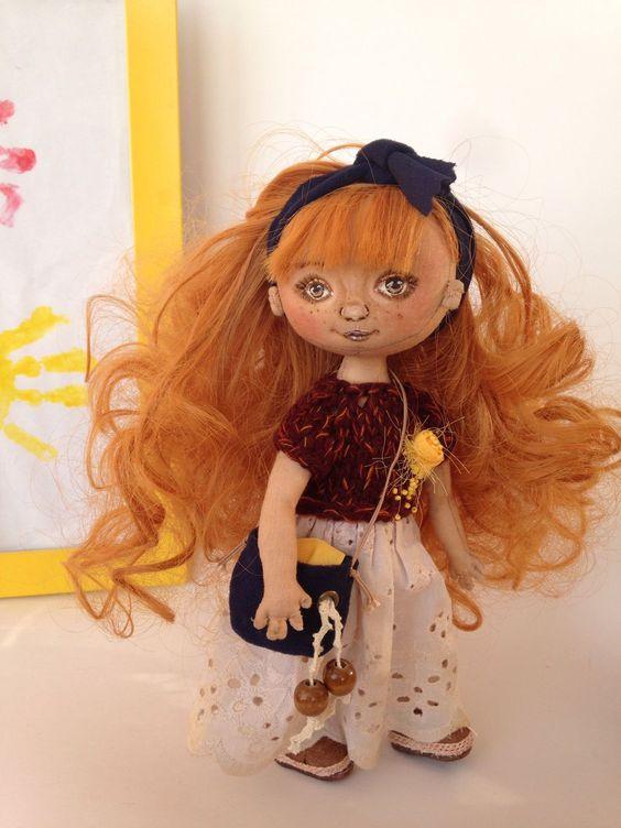 Купить Авторская текстильная кукла - кукла ручной работы, кукла, кукла в подарок, кукла интерьерная