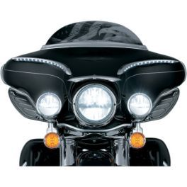 PHASE 7 LED BLACK HEADLAMP/PASSING LAMPS - LCS Motorparts