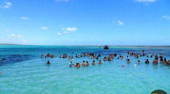 Tomando banho de mar a 4km da costa
