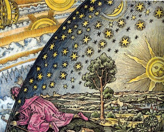 """""""Flammarion engraving (Unknown artist; first appeared in Camille Flammarion's - L'atmosphère: météorologie populaire (1888)"""" by PoorHighClass in Heavymind - Imgur"""