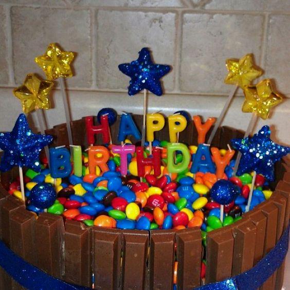 Happy Birthday Kit Kat cake