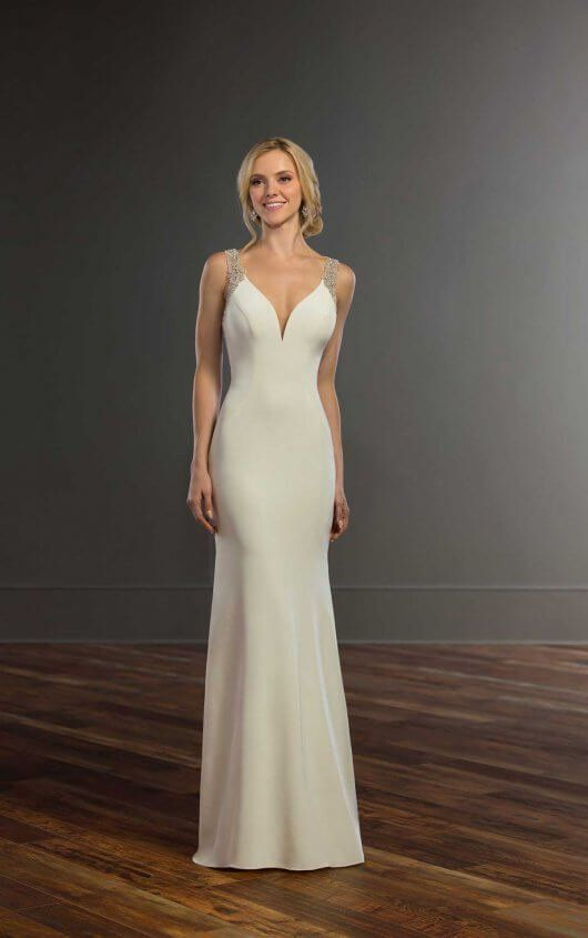 Simple Beaded Wedding Gown Martina Liana Wedding Gowns Martina Liana Wedding Dress Ball Gown Wedding Dress Wedding Gowns