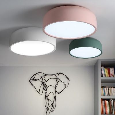 Dome Shade Ceiling Flush Mount Colorful Minimalist Painting
