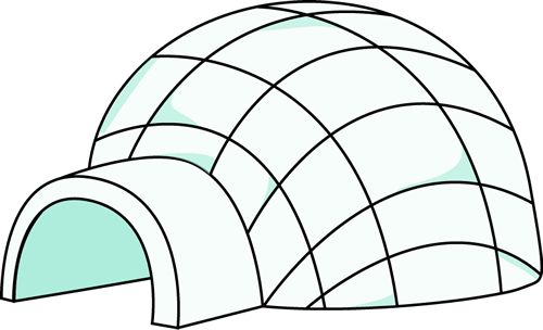 igloo coloring pages teachers - photo#47