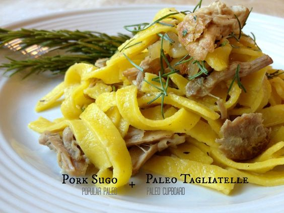 Paleo Pasta with Braised Pork & Fennel Sauce on www.PopularPaleo.com | Delicious grain-free pasta paired with a super easy braised pork sauce!: