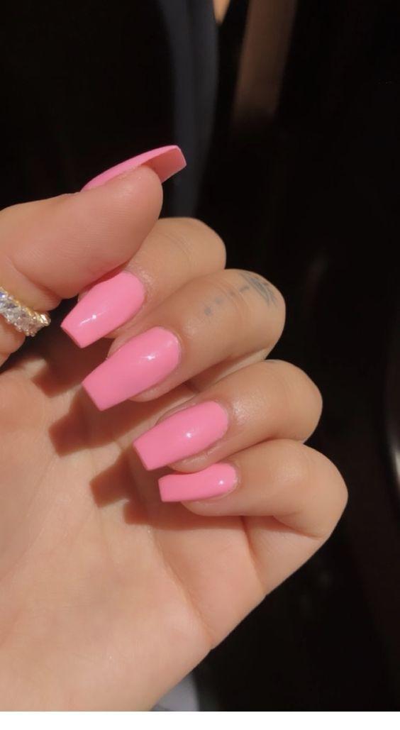 Sweet Pink Nails Chicladies Uk Pink Manicure Pink Acrylic Nails Pretty Acrylic Nails