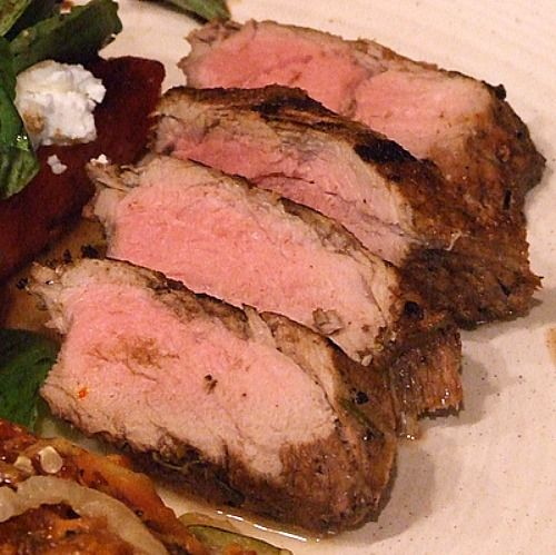 ... balsamic- rosemary marinade. Nutritional information and photograph