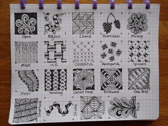 TANGLE PATTERNS PAGE 5 OF 19- #doodles #zendoodle # doodle-----Tekenpraktijk De Innerlijke Wereld: Tangle-patronen
