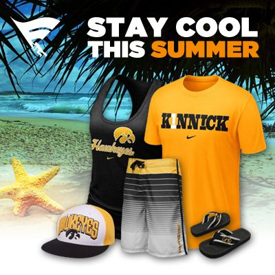 Stay cool and show your Hawkeye spirit all summer long! Check out the Iowa summer collection here!