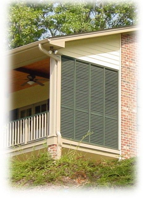 Porch Shutter Wall With Moveable Louvers Jpg Outdoor Home And Porch Pinterest Green Colors