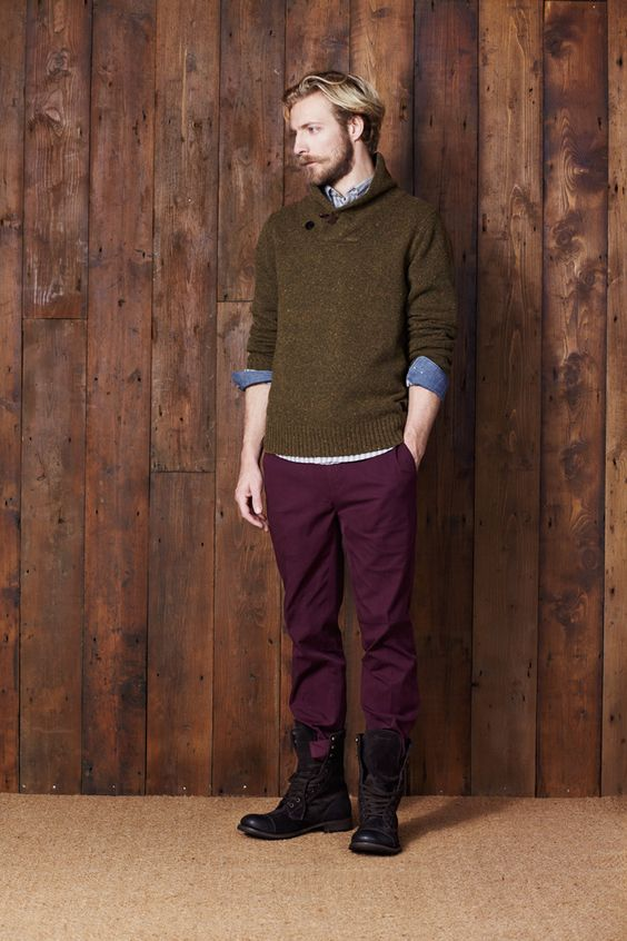 ben sherman olive and plum