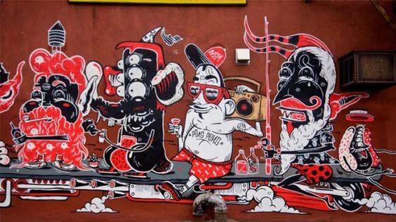 Murales hechos por Yok and Sheryo
