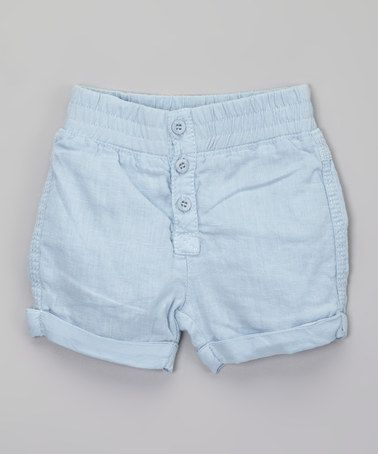 Another great find on #zulily! Robin's Egg Light Blue Victor Linen Shorts - Infant #zulilyfinds