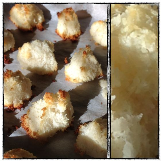 Coconut Macaroons made with non-processed, clean ingredients.  Sweetened with honey.
