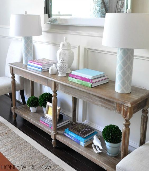 Foyer tables entrance and entryway on pinterest for Dining room entrance designs