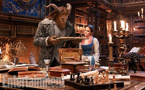 "The castle library is looking cozy and magical. | Here Are 9 Magical ""Beauty And The Beast"" First Look Photos:"