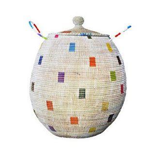 Traditional fair-trade basket handmade from Senegal