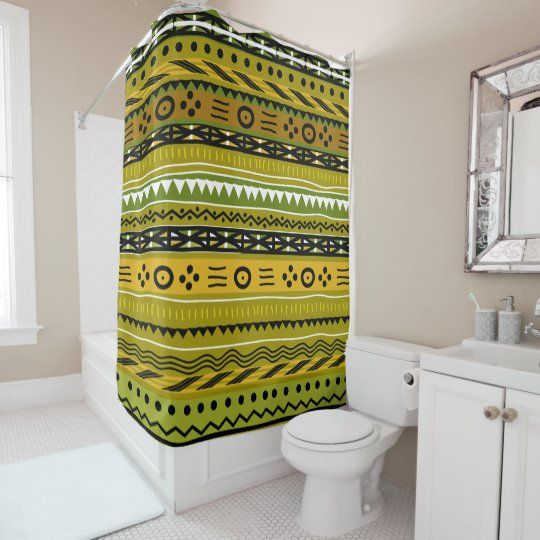 Shango Tribal Design Shower Curtain Zazzle Com In 2020 Tribal