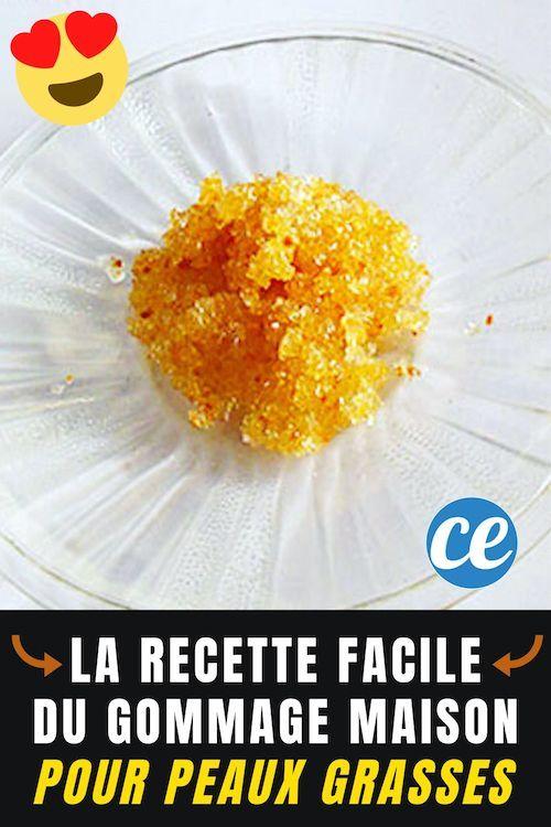 Peaux Grasses La Recette Ultra Facile Du Gommage Fait Maison Recette Gommage Peau Gommage Maison