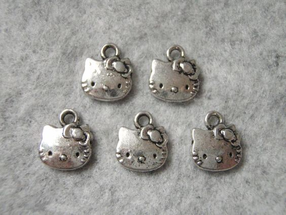 Hello Kitty Charms 10 pack LOW SHIPPING by RobertsBraceletShop, $1.00