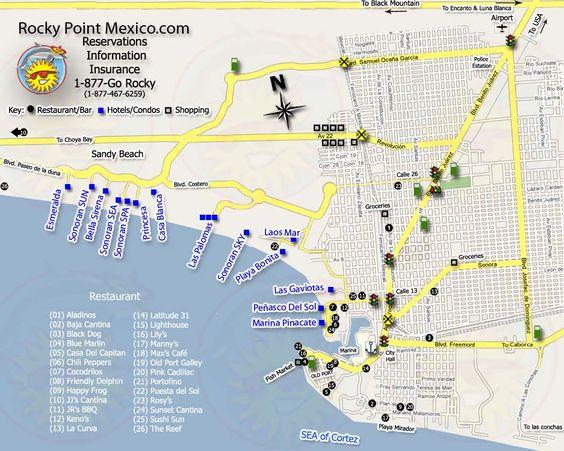 sandy beach map rocky point | Rocky Point | Pinterest ...
