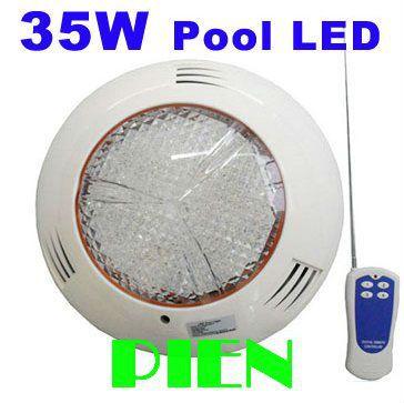 Подводный 35 Вт RGB IP68 СВЕТОДИОДНЫЕ Лампы бассейн 501 светодиодное освещение Вне AC12V Wallmounted + пульт дистанционного управления CE, DHL 20 шт./лот