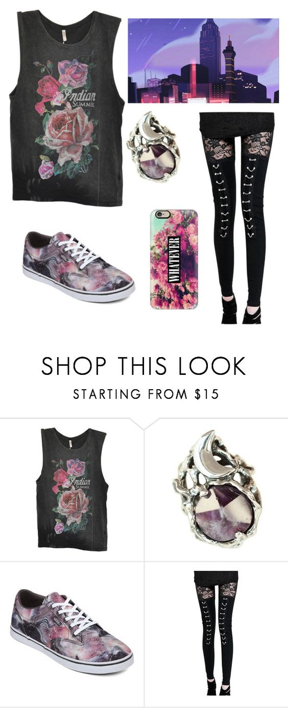 """Empire City- Human Teenage Rose Quartz"" by coffeeismysoul ❤ liked on Polyvore featuring Spell & the Gypsy Collective, MANIAMANIA, Vans and Casetify"