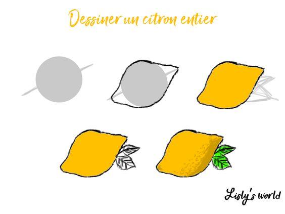 Dessiner un citron entier