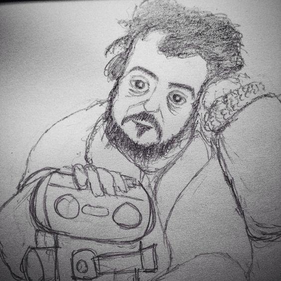 My sketch of The Genius, Stanley Kubrick