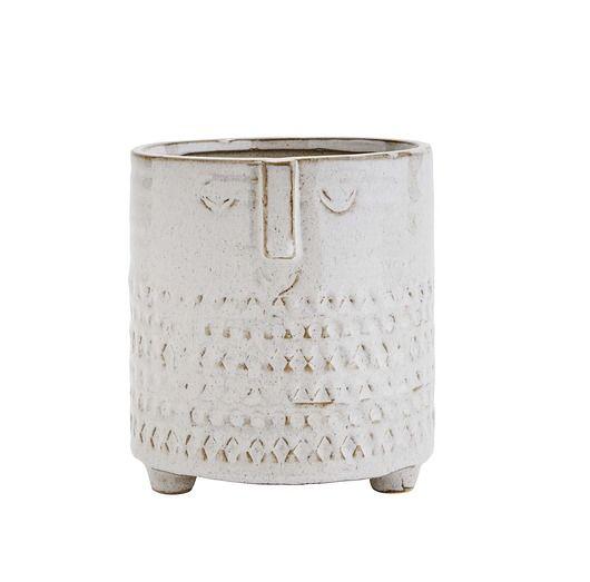 Doniczka Oslonka Face Jasny Bez Kamionka Pakamera Pl Decorative Jars Candle Holders Decor