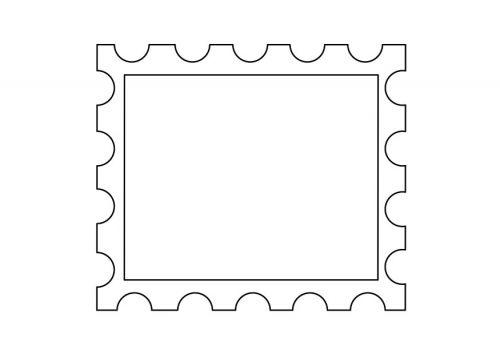 postage stamp template printables pinterest coloring stamps and postage stamps. Black Bedroom Furniture Sets. Home Design Ideas