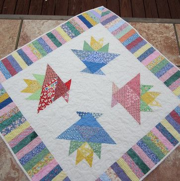 Basket Pastel Quilt by The Quilt Haus traditional quilts