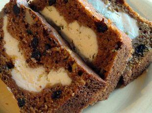 Pumpkin Bread with Maple Cream Cheese Filling - - Yum Recipe