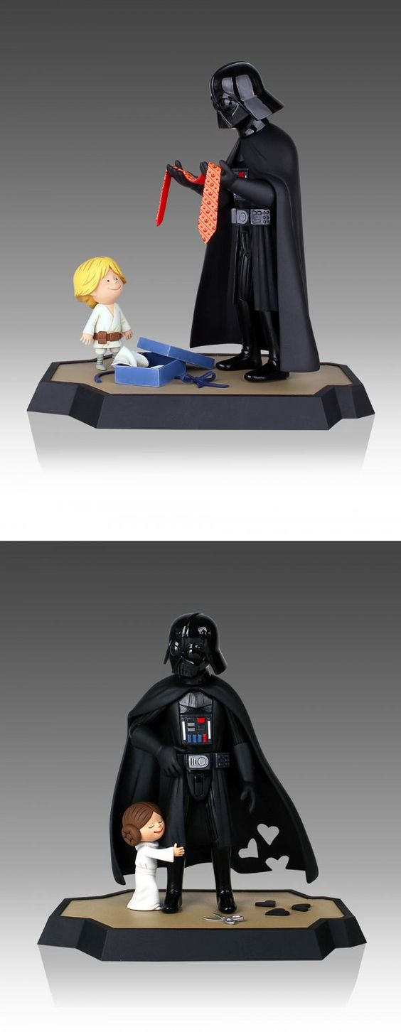 Look at How Adorable These Dad Vader Toys Are   especially the bottom one where the hearts are cut out of the cape