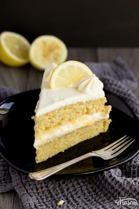 Fabulous The Best Ever Dairy Free Vegan Lemon Cake Recipe Vegan Lemon Personalised Birthday Cards Cominlily Jamesorg