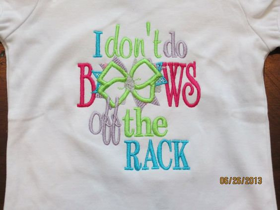 I don't do BOWS off the RACK (bc my mommy makes them)