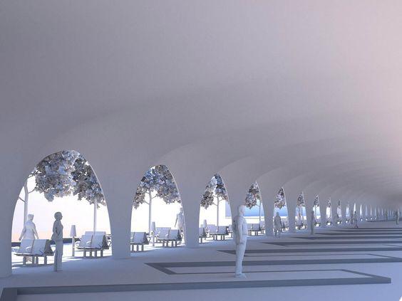 Maquette 3D d'étude</br>Gare routiere Aix-en-provence